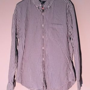 J.Crew long sleeve black/white checkered button